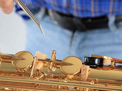 Saxophon: Transportsicherung