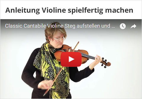 Violine Steg Aufstellen Video