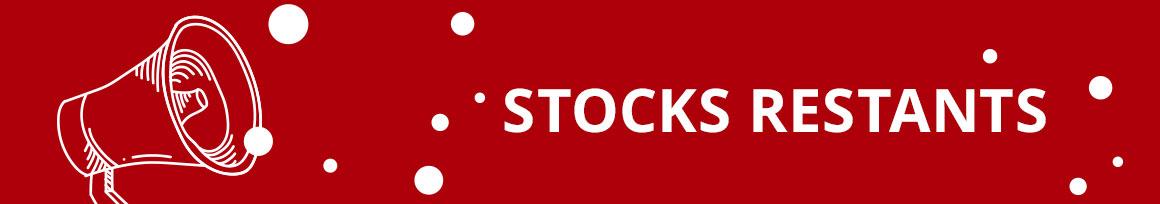 stocks restants