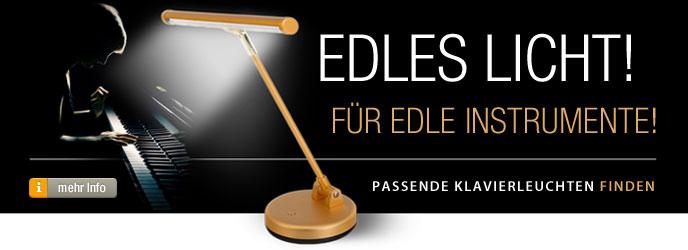 Klavierleuchten - Edles Licht für edle Instrumente!