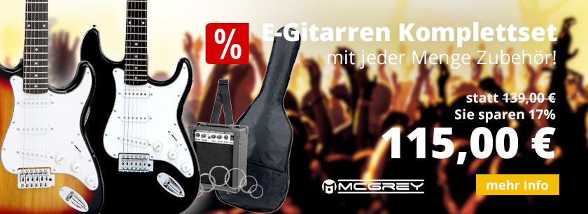 McGrey Rockit E-Gitarrenset Liste