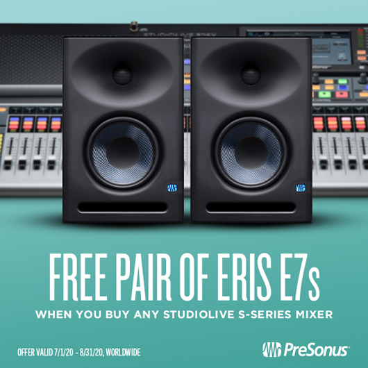 Presonus free pair of eris e7s