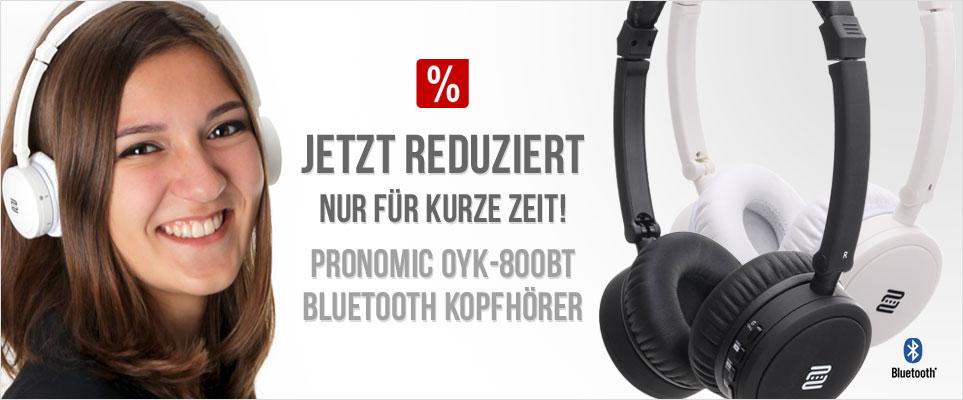 Jetzt reduziert nur für kurze Zeit! Pronomic OYK-800BT Bluetoothe Kopfhörer