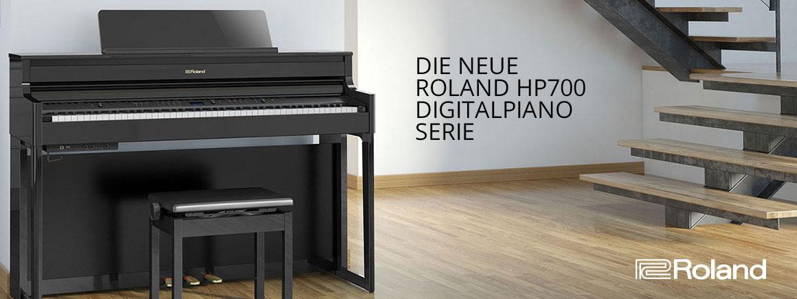 Die neue Roland HP700 Digitalpiano Serie