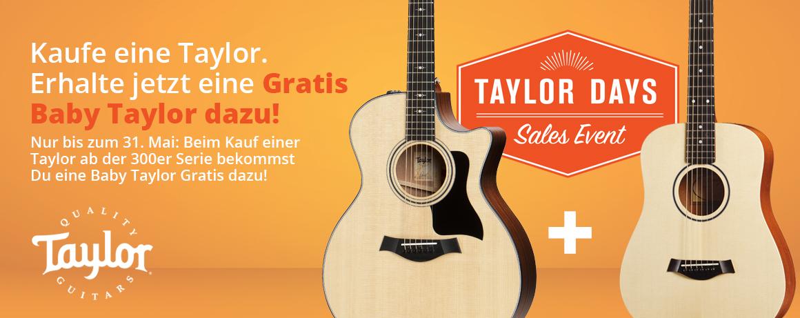 Taylor Days! Kaufe eine Taylor und erhalte eine Baby Taylor GRATIS dazu!