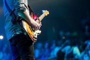 Fester Bestandteil jeder Rockband: die E-Gitarre.