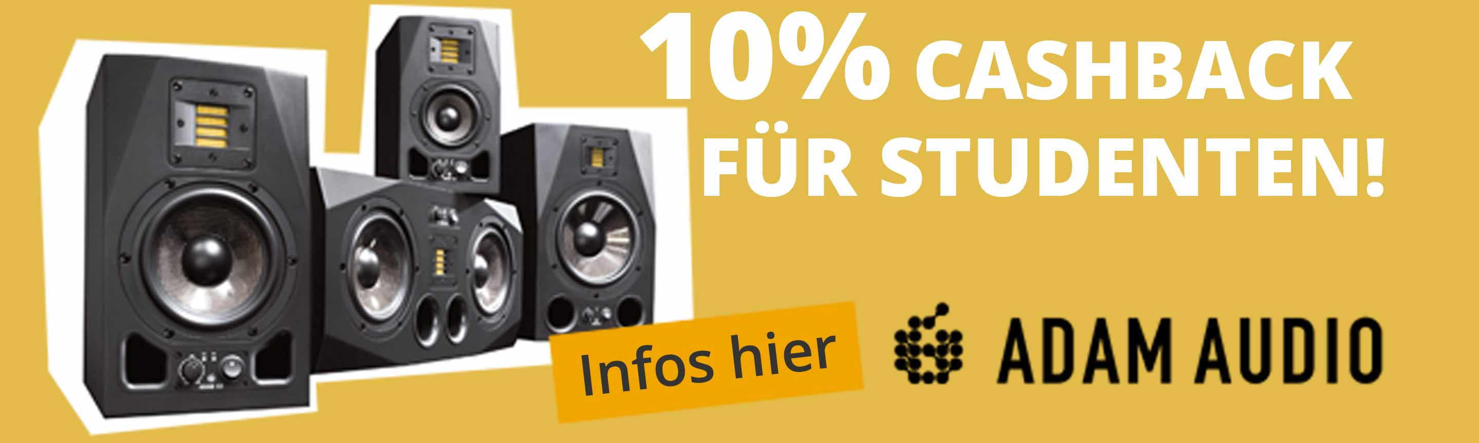 Adam Audio Studenten-Cashback