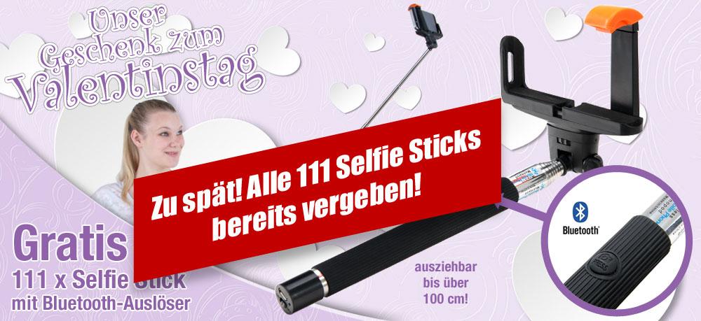 Gratis 111 x Selfie Stick