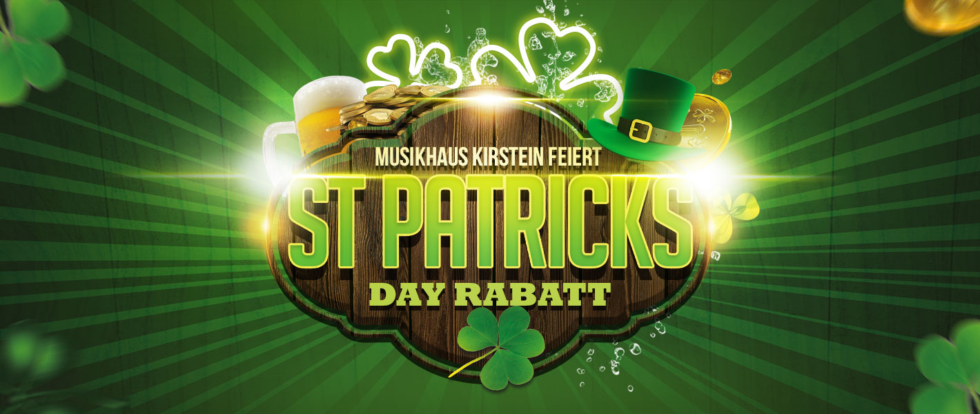 10% Rabatt zum St. Patrick's Day