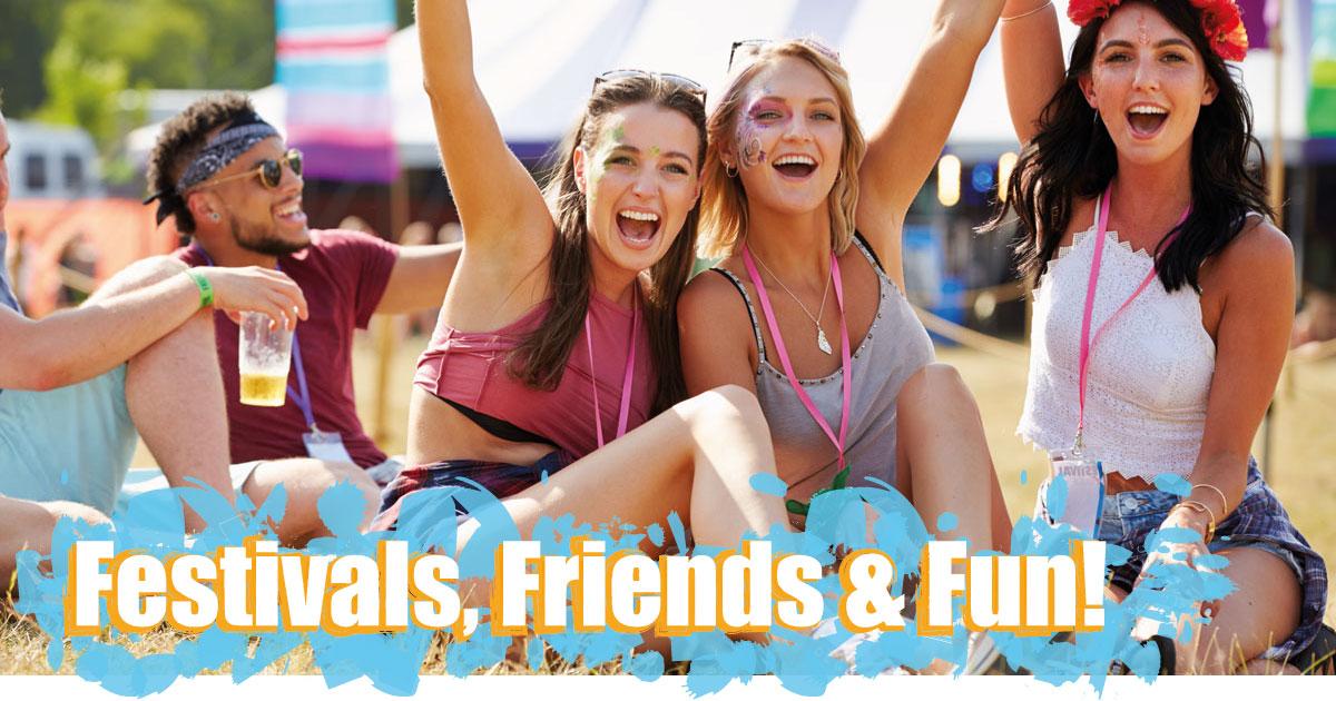 Kirstein Festivalwelt. Festival-Specials für jede Menge Fun!