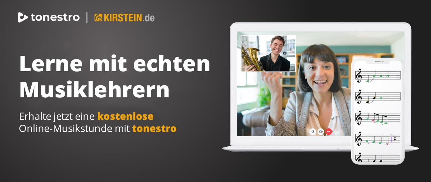 Kostenloser Online-Musikunterricht mit tonestro