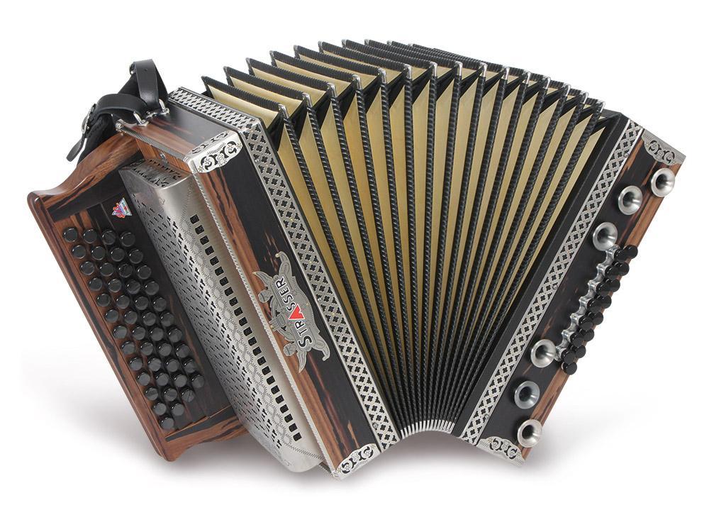 Alpenland Harmonikakoffer Steirische Harmonika 3-reihig