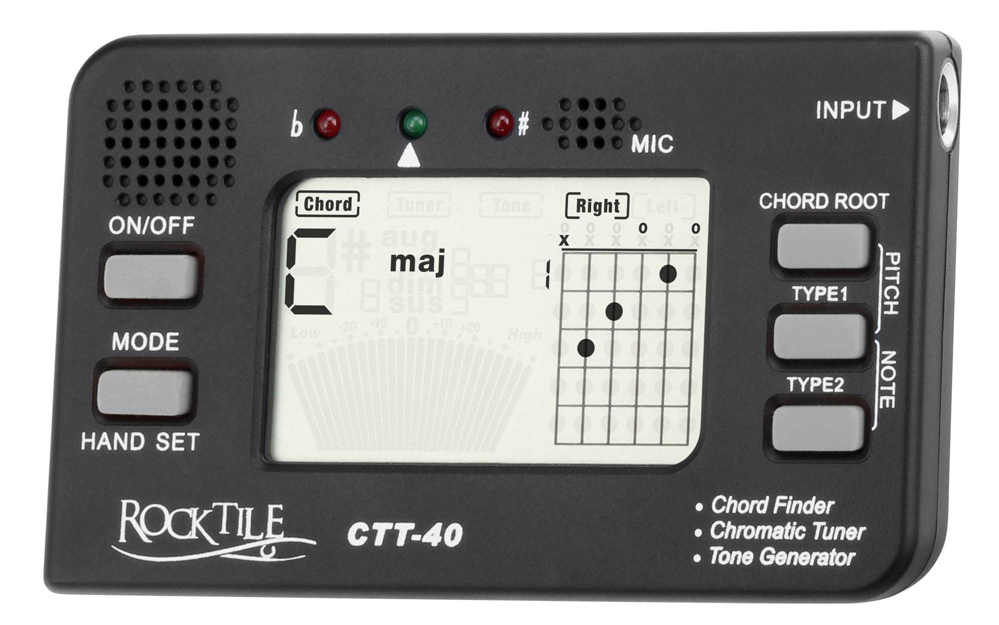 Rocktile ctt 40 chord finder tuner all in one device for rocktile ctt 40 chord finder tuner all in one device for guitarists with tone generator hexwebz Choice Image