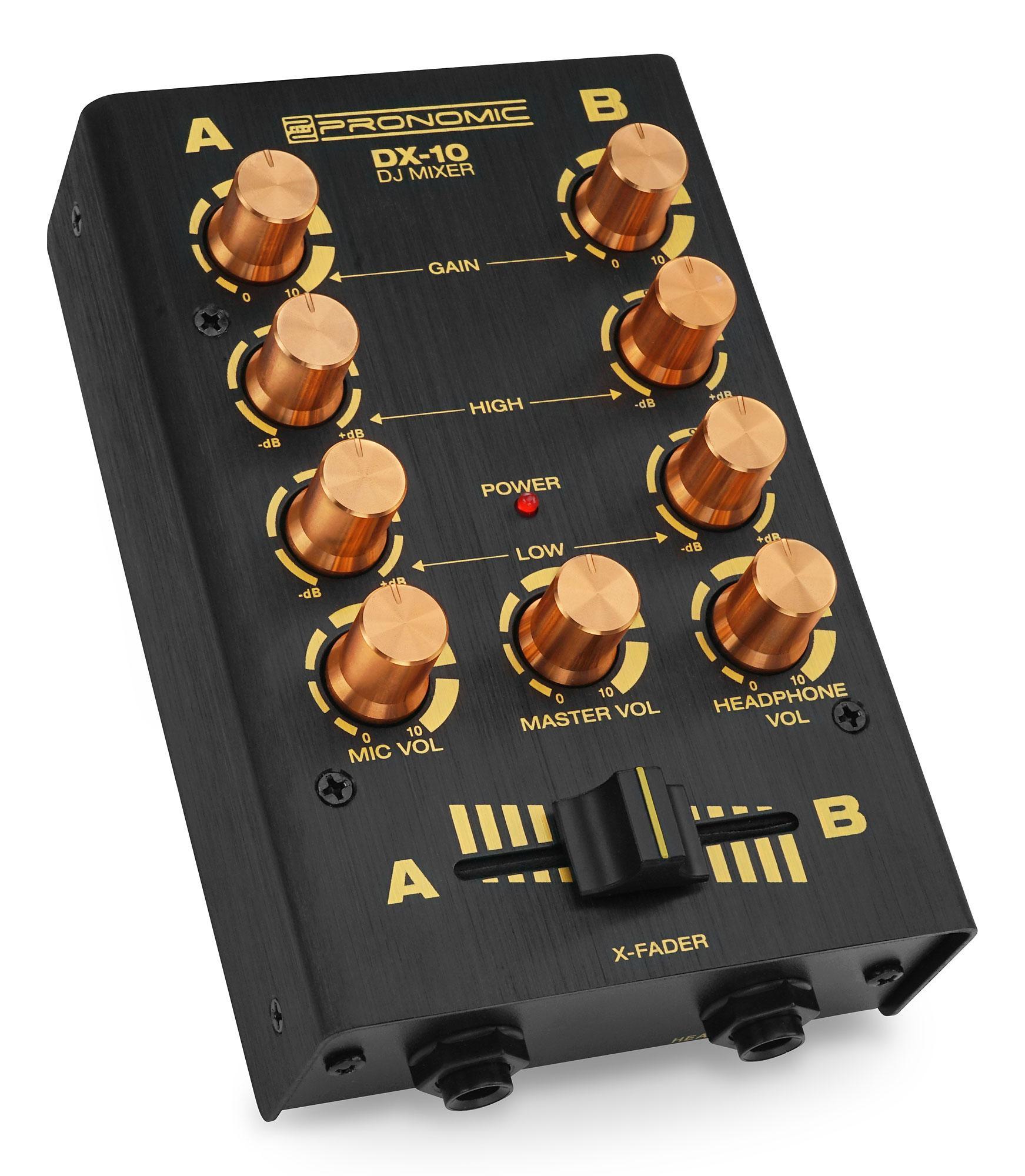 Pronomic DX-10BK DJ Mixer Black