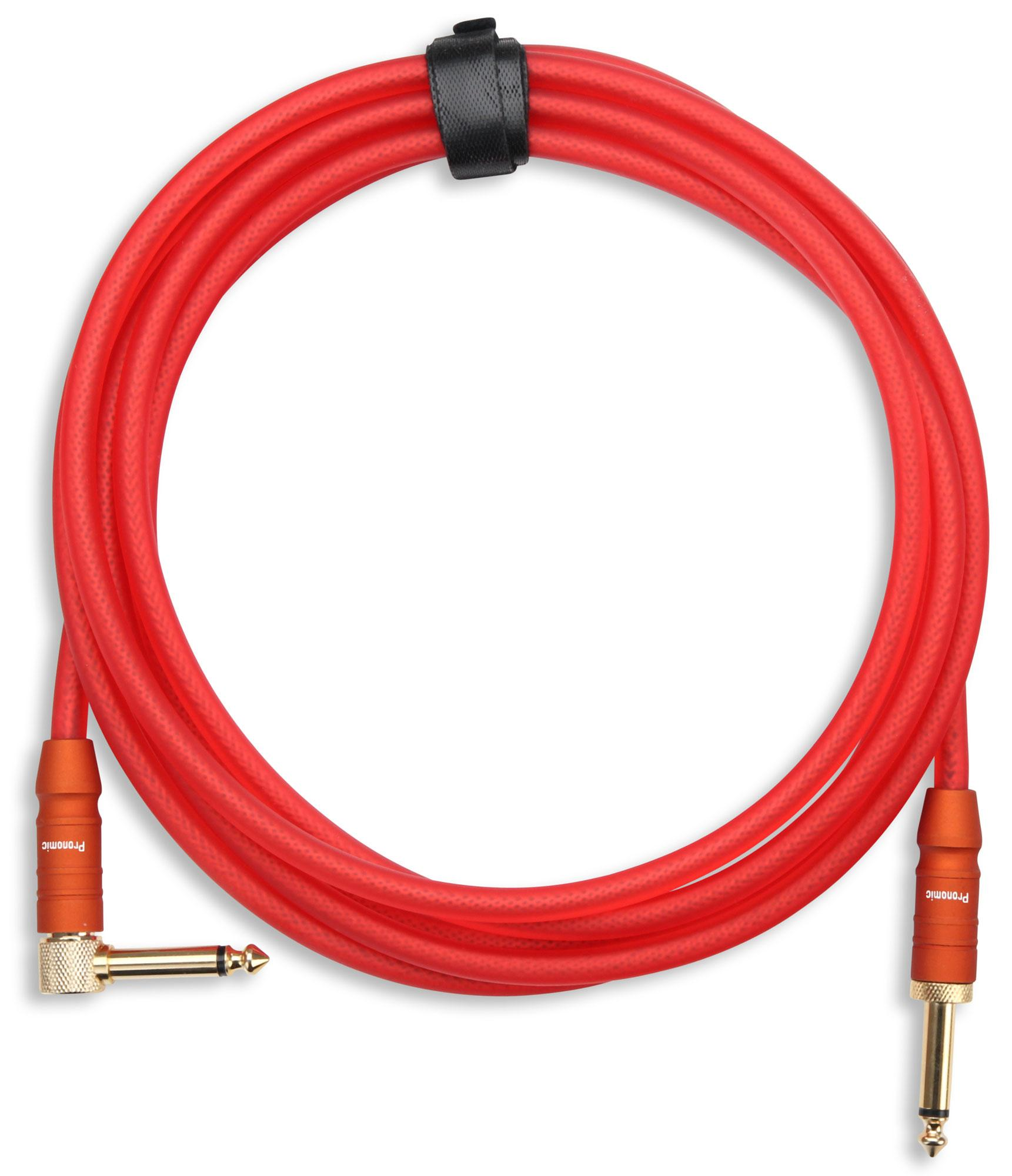 Pronomic Trendline INST-3R Instrument Cable 3m red