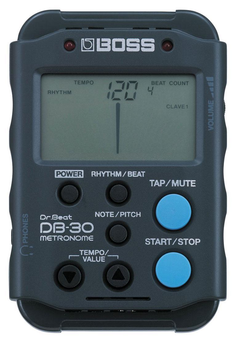 Handliches LCD Boss DB-30 Metronom mit Kopfhöreranschluss und Speicherfunktion