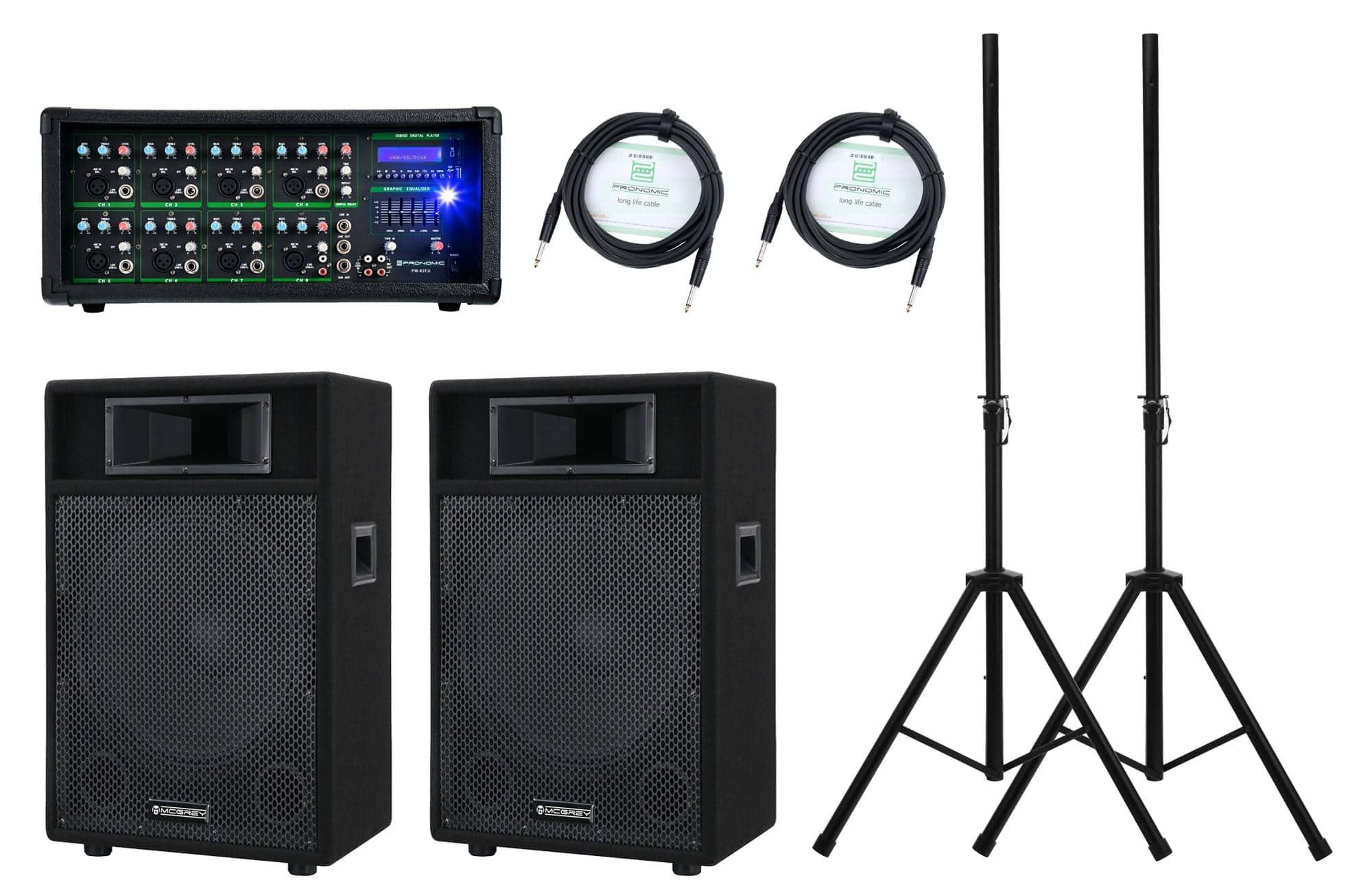 Klasse Aktiv DJ PA Lautsprecher 300 Watt Power und Robustem Plastik Gehäuse NEU