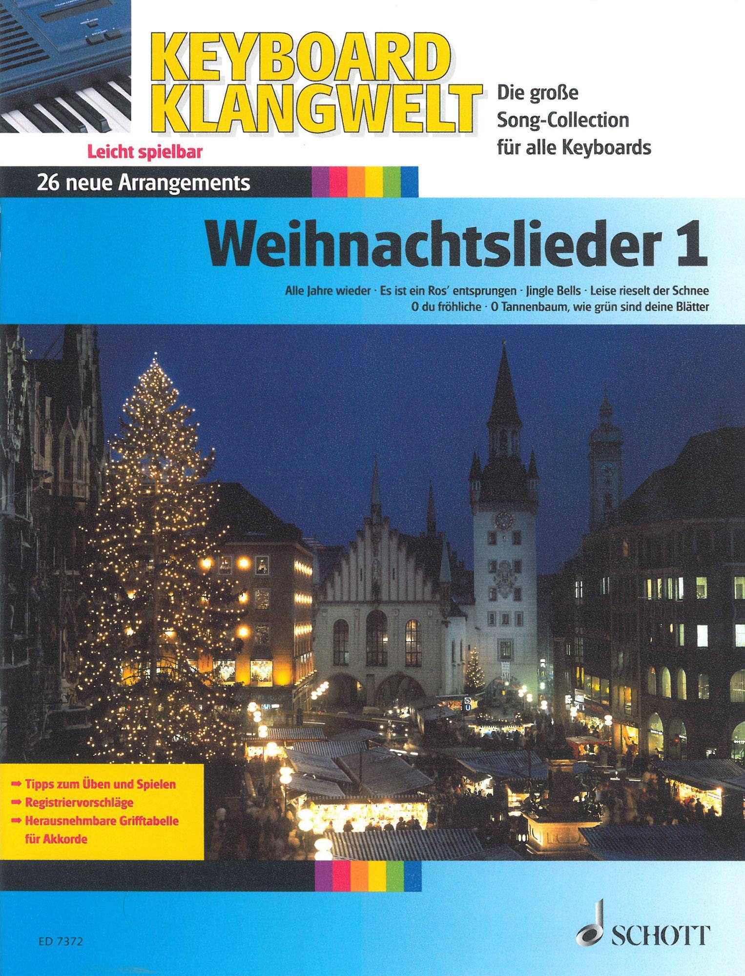 Aktuelle Weihnachtslieder.Keyboard Klangwelt Weihnachtslieder 1