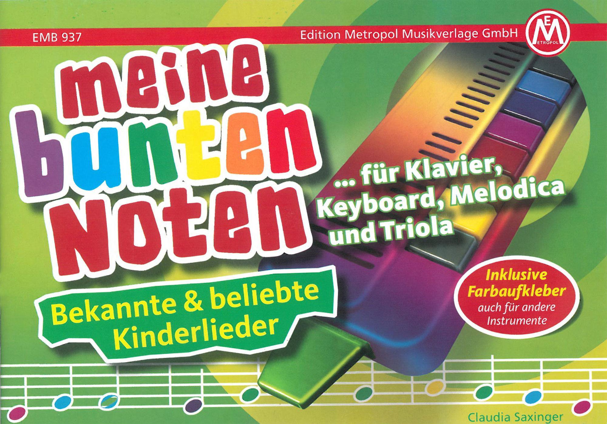 Meine Bunten Noten Fur Klavier Keyboard Melodica Und Triola