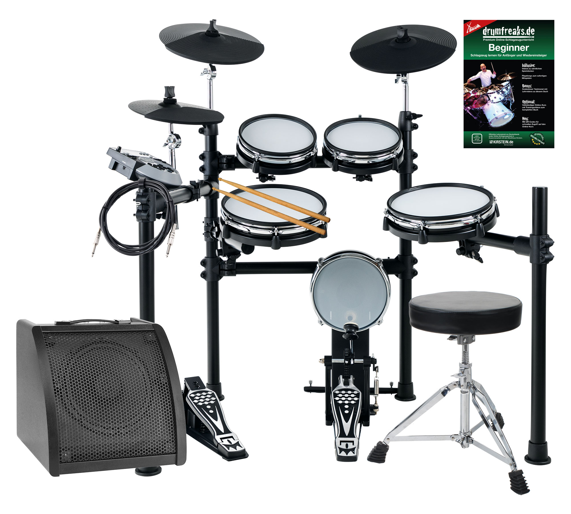 Xdrum dd 530 mesh heads e drum live set con drum monitor e sgabello
