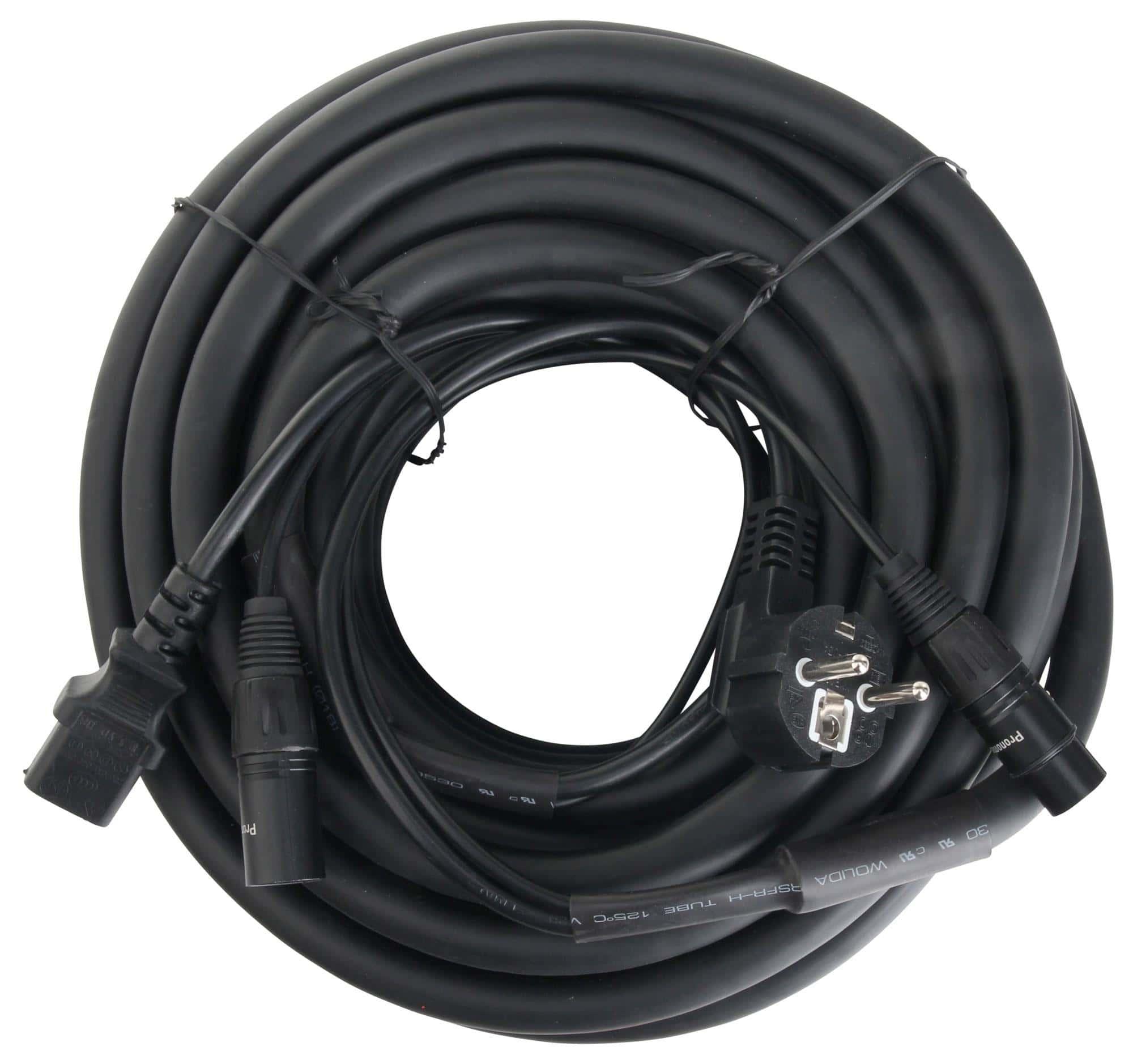 Pronomic Stage EUIECX-15 Hybrid Cable Schuko plug to IEC connector ...