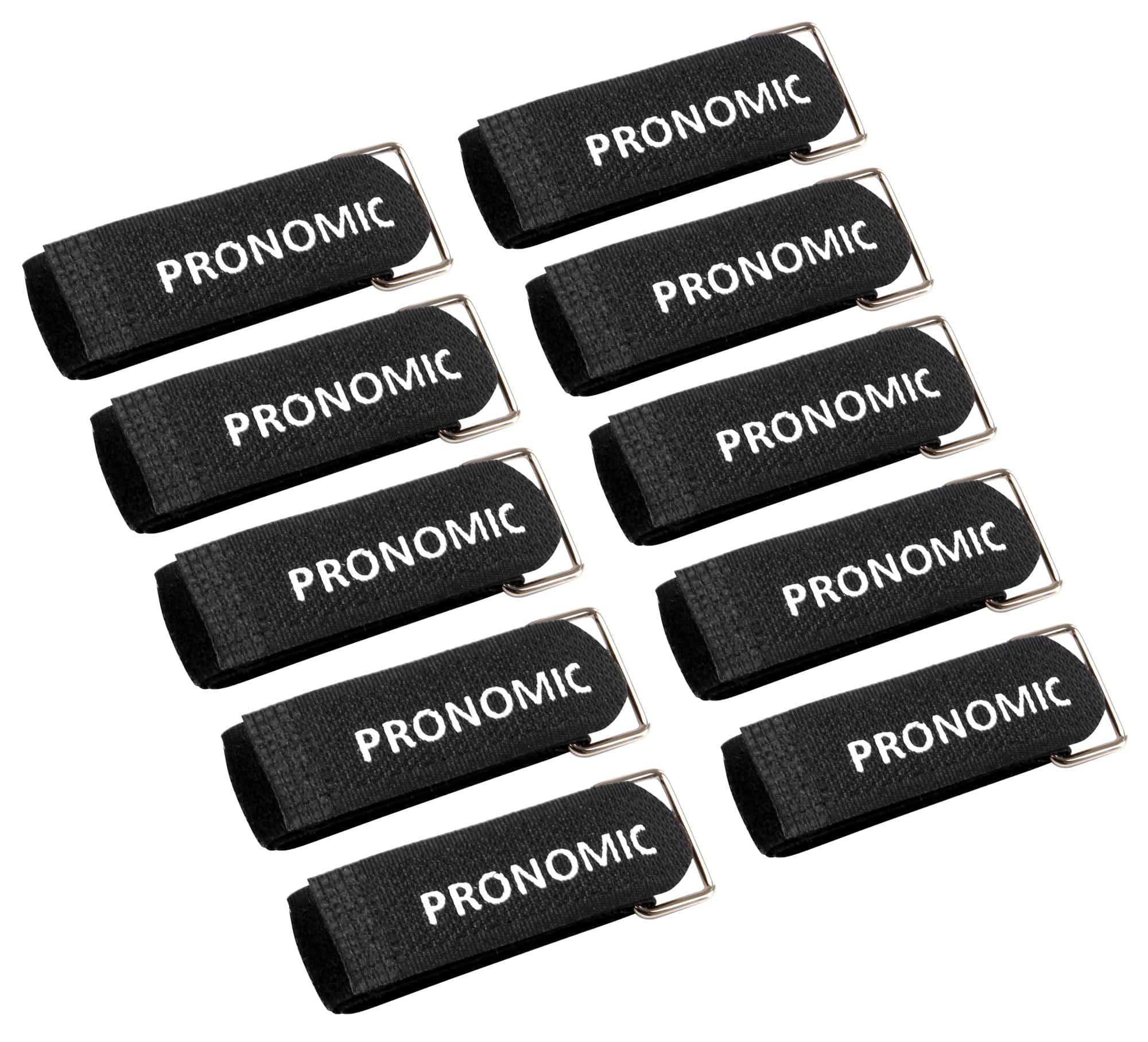 Pronomic KB-300R Kabelbinder Klett 300mm mit Ring 10er Pack