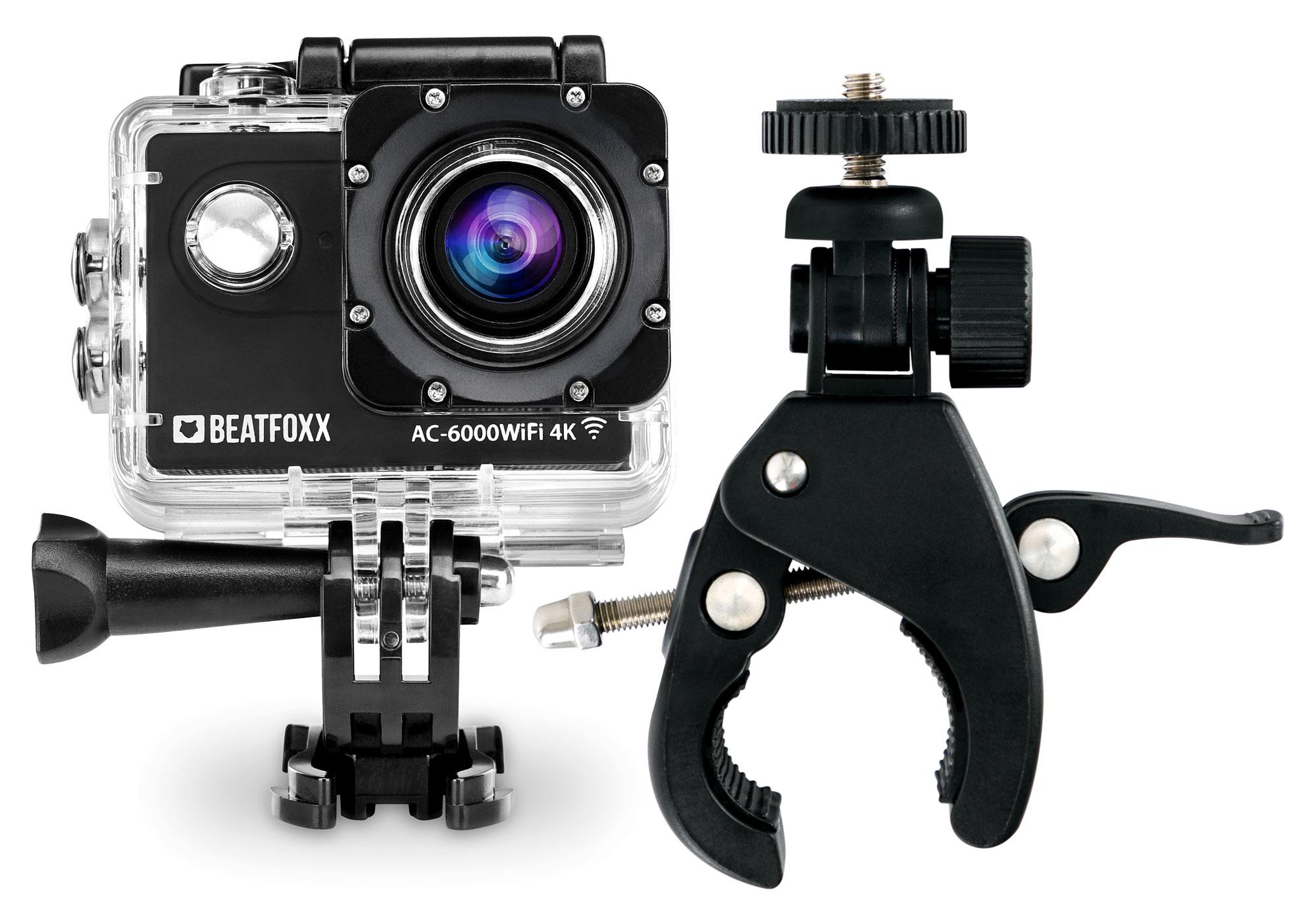 Beatfoxx AC-6000WiFi 4K Action Camera + Special FlexClamp Holder