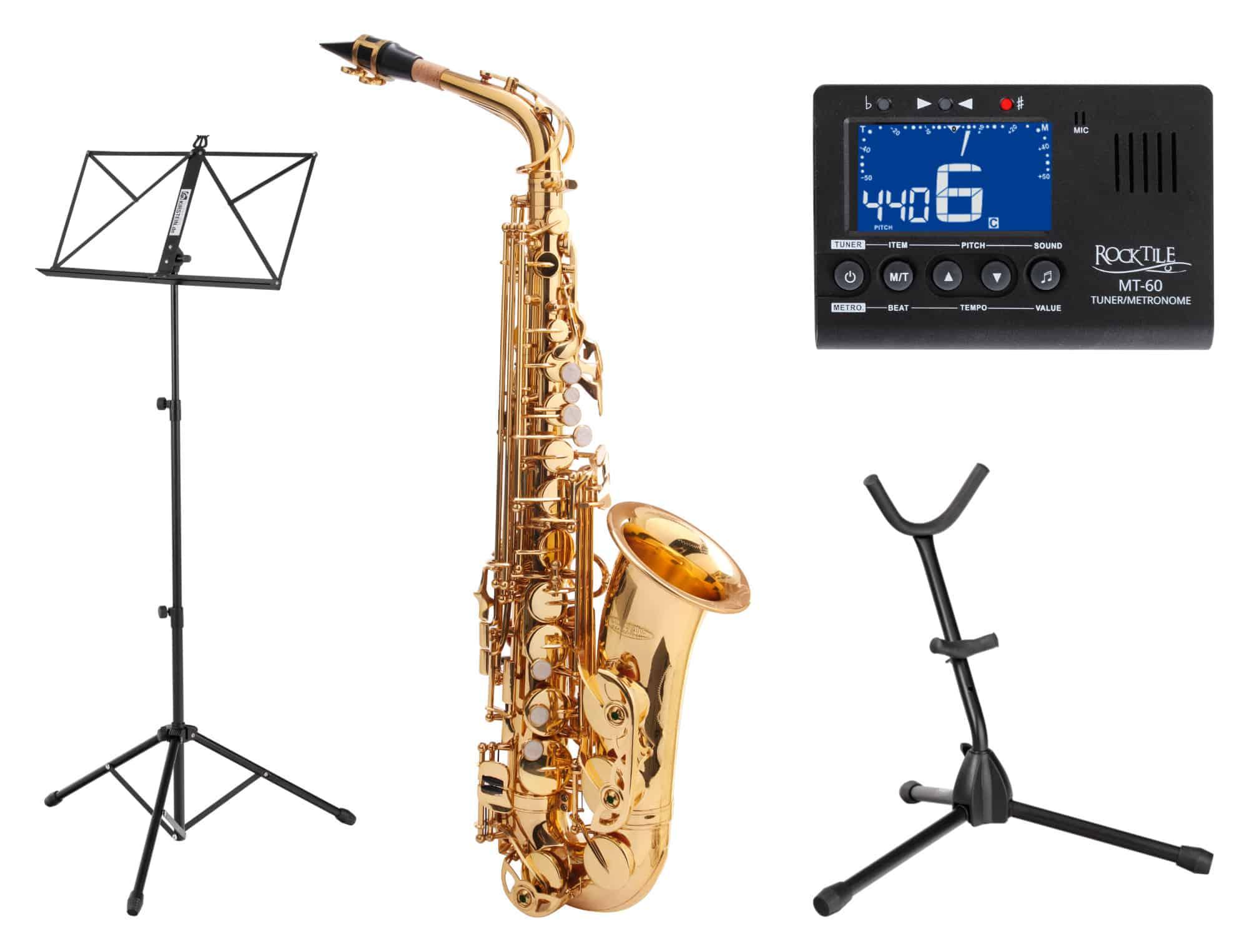Alt Saxophon Vintage Red Sax Saxofon Leichtkoffer Mundstück lackiert Set Blätter