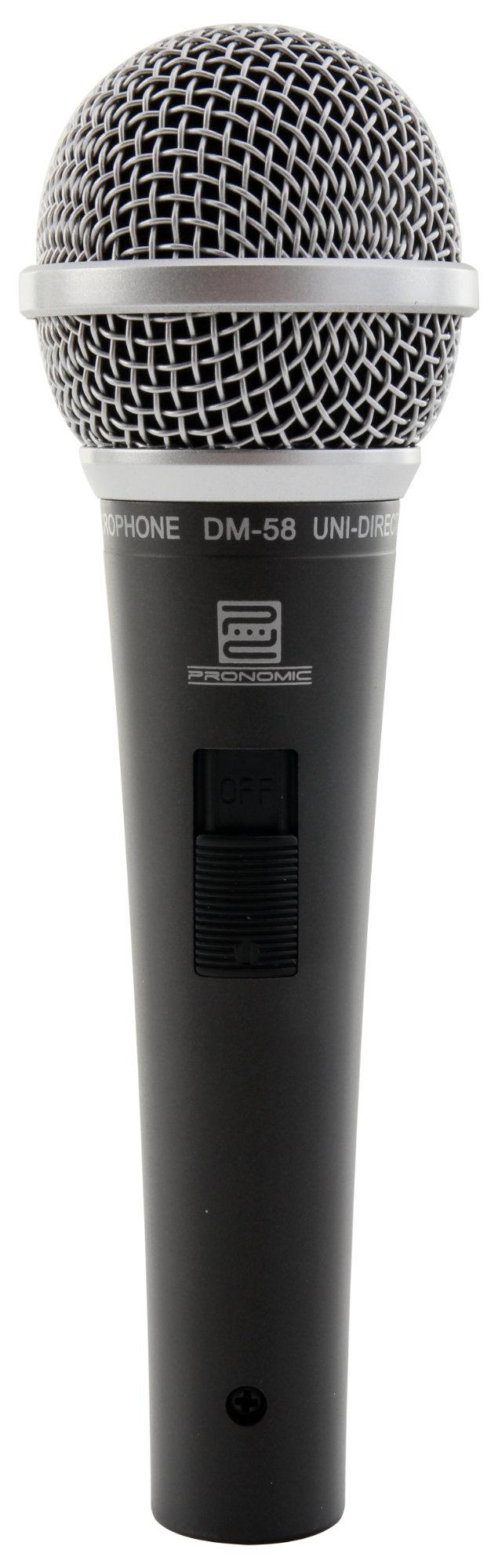 Pronomic DM-58 Vocal Mikrofon mit Schalter