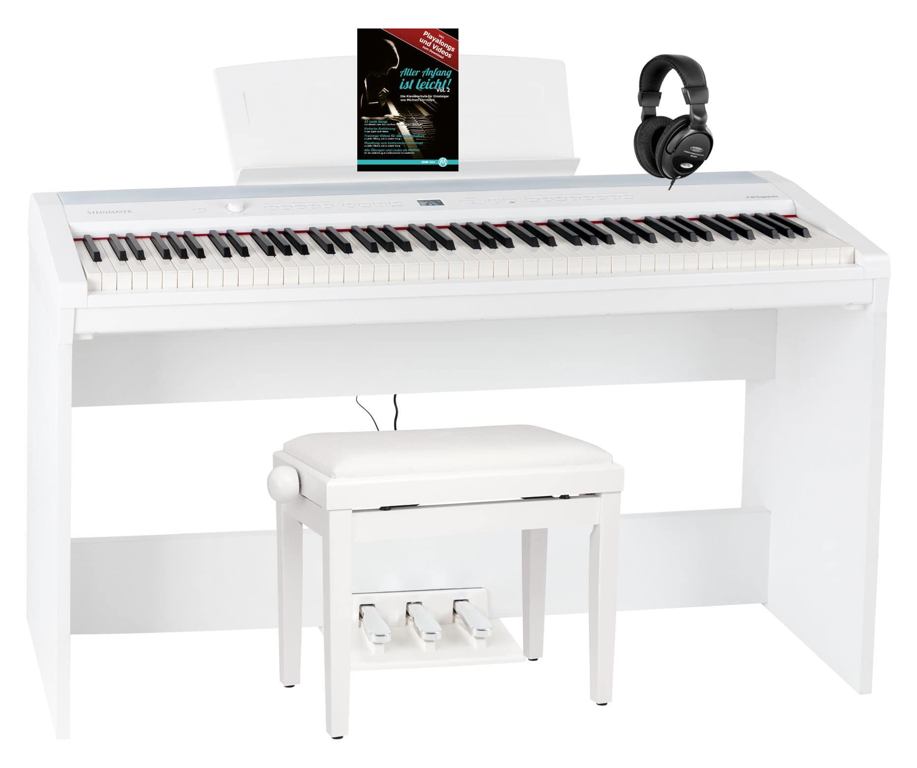 Steinmayer P-60 WM stage piano home set white