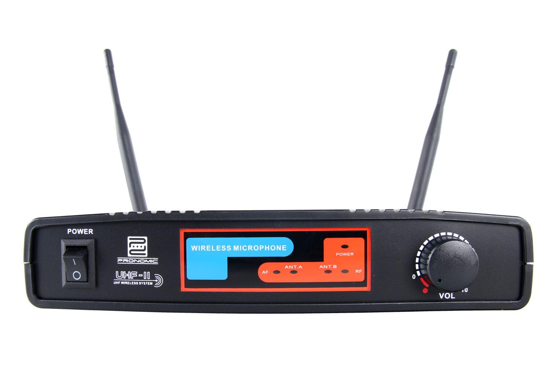 Pronomic micrófono de mano sistema k mhz uhf