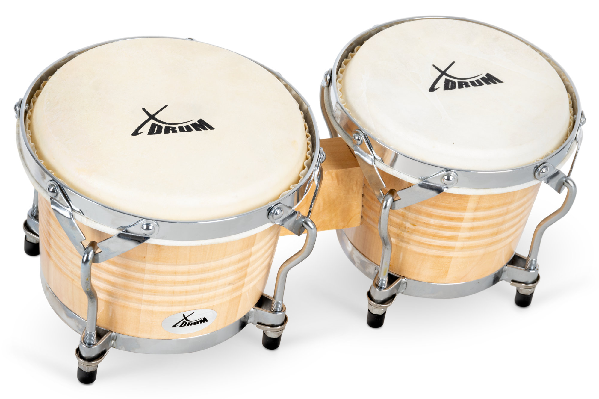 "XDrum 10/"" 11/"" Conga Set Latin Holz Trommeln Percussion Stativ Set Natur"