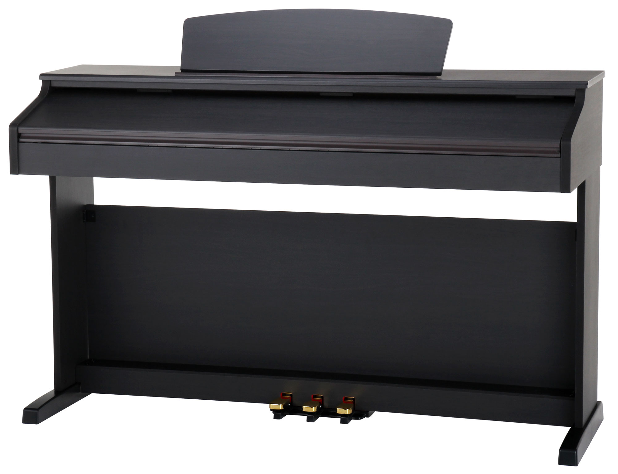 E-Piano Digital Piano 88 Hammer Tasten Keyboard Set Bank Kopfhörer Braun Matt