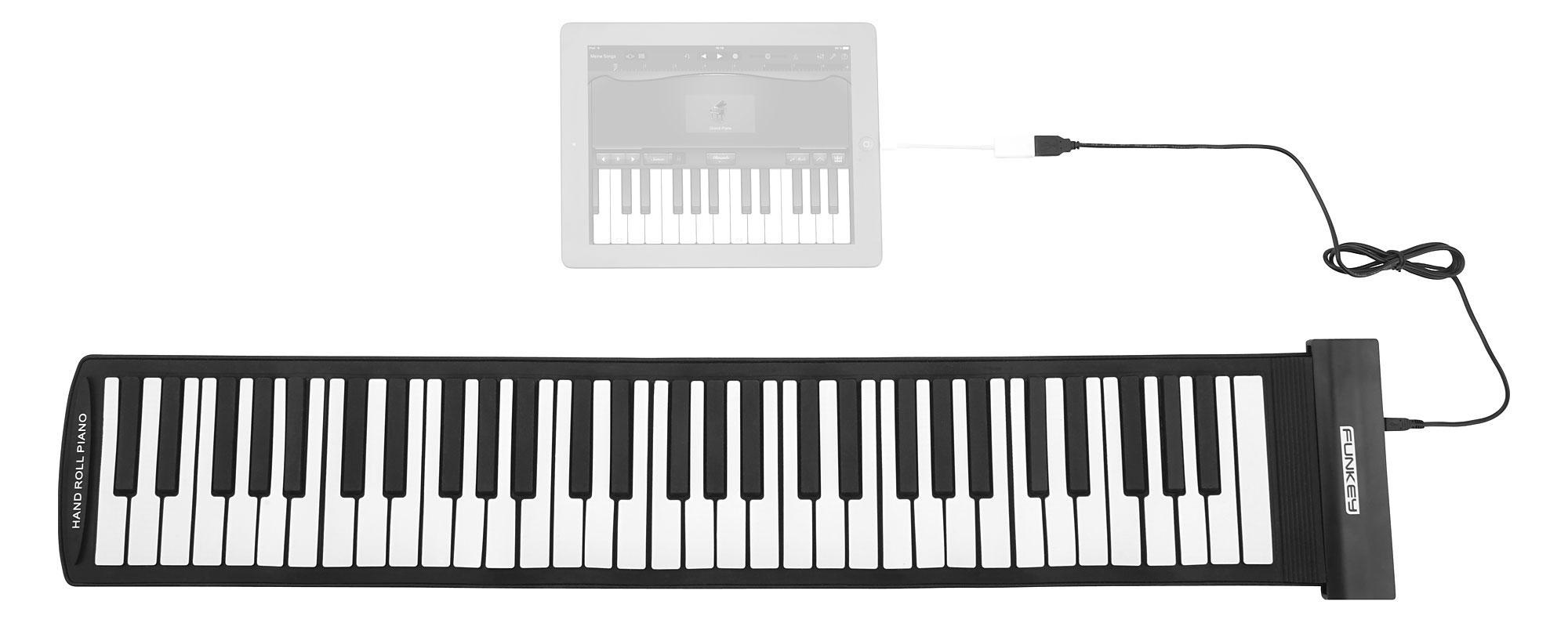 61-Tasten Rollpiano Kinder Keyboard Rollup E-Piano MIDI Silikon für unterwegs