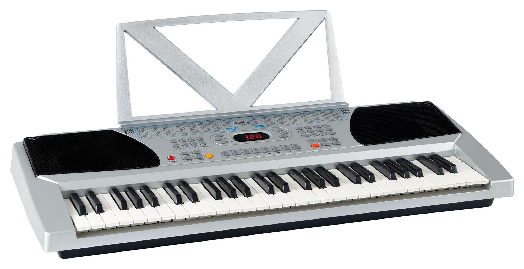Keyboard DynaSun MK4500 54 Tasten USB Lernfunktion mit Support und Notenständer