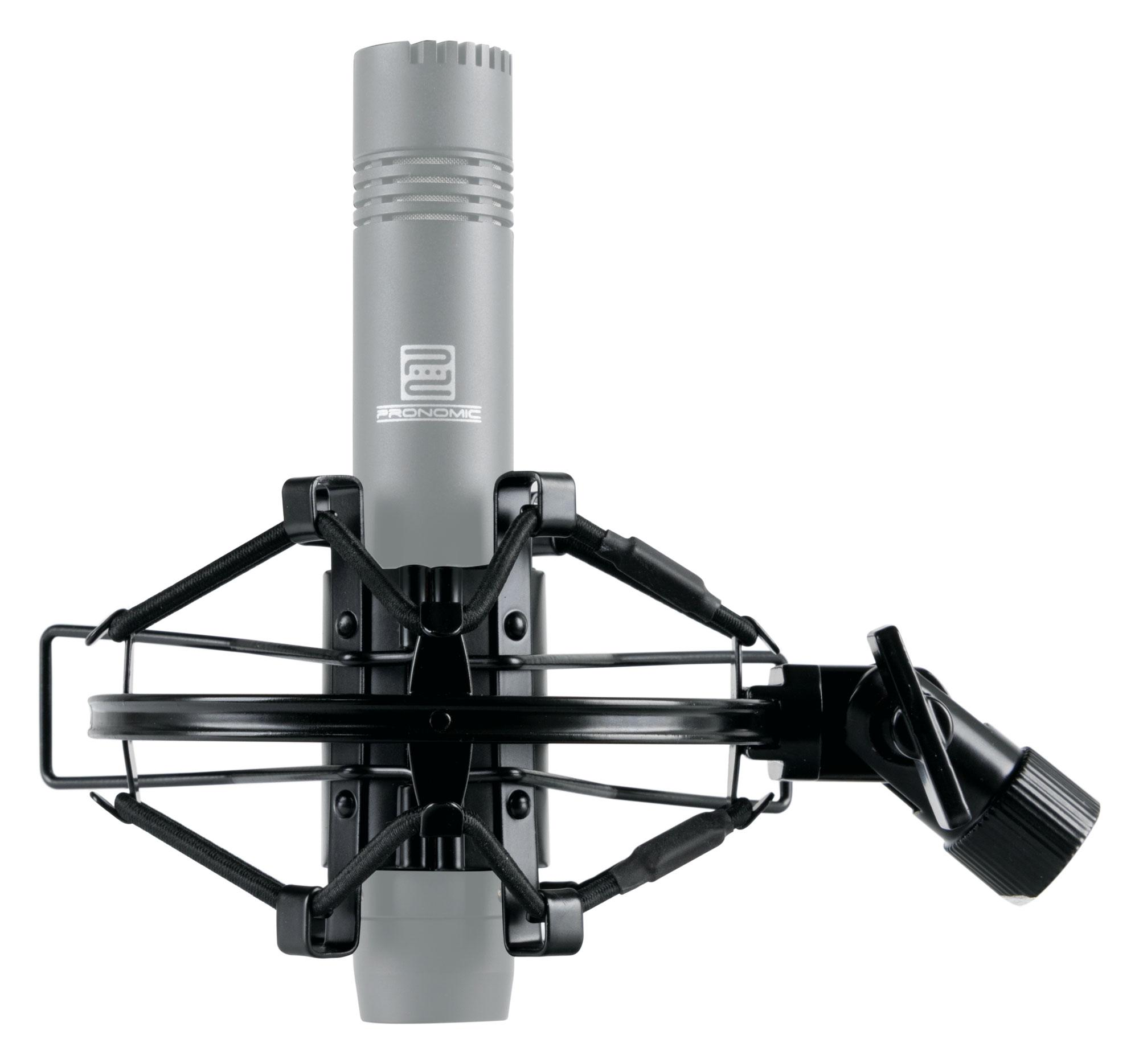 Elastische Mikrofonspinne für Großmembranmikrofone von 43 bis 50 mm in schwarz