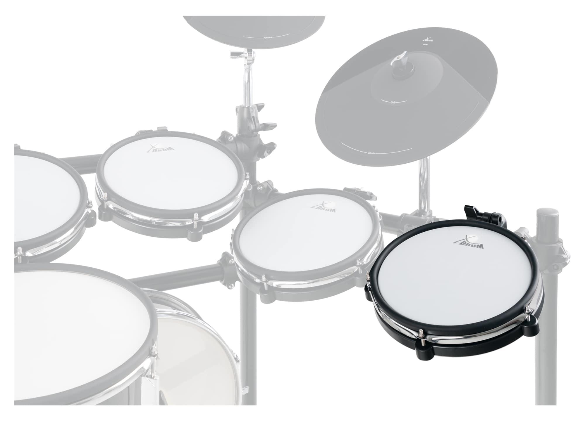 """10/"""" Mesh Pad Mesh Head E-Drum Pad Dual Zone Pad Gewebe Fell Rim Shot Funktion"""