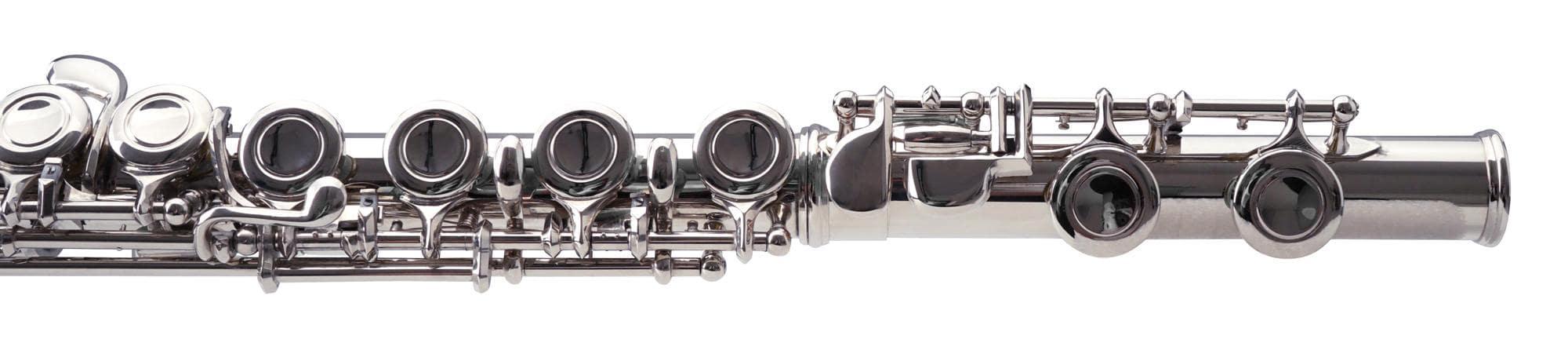 B-WARE Einsteiger Anfänger Querflöte Flöte Neusilber gebogenes Kopfstück Zubehör Musik & Instrumente