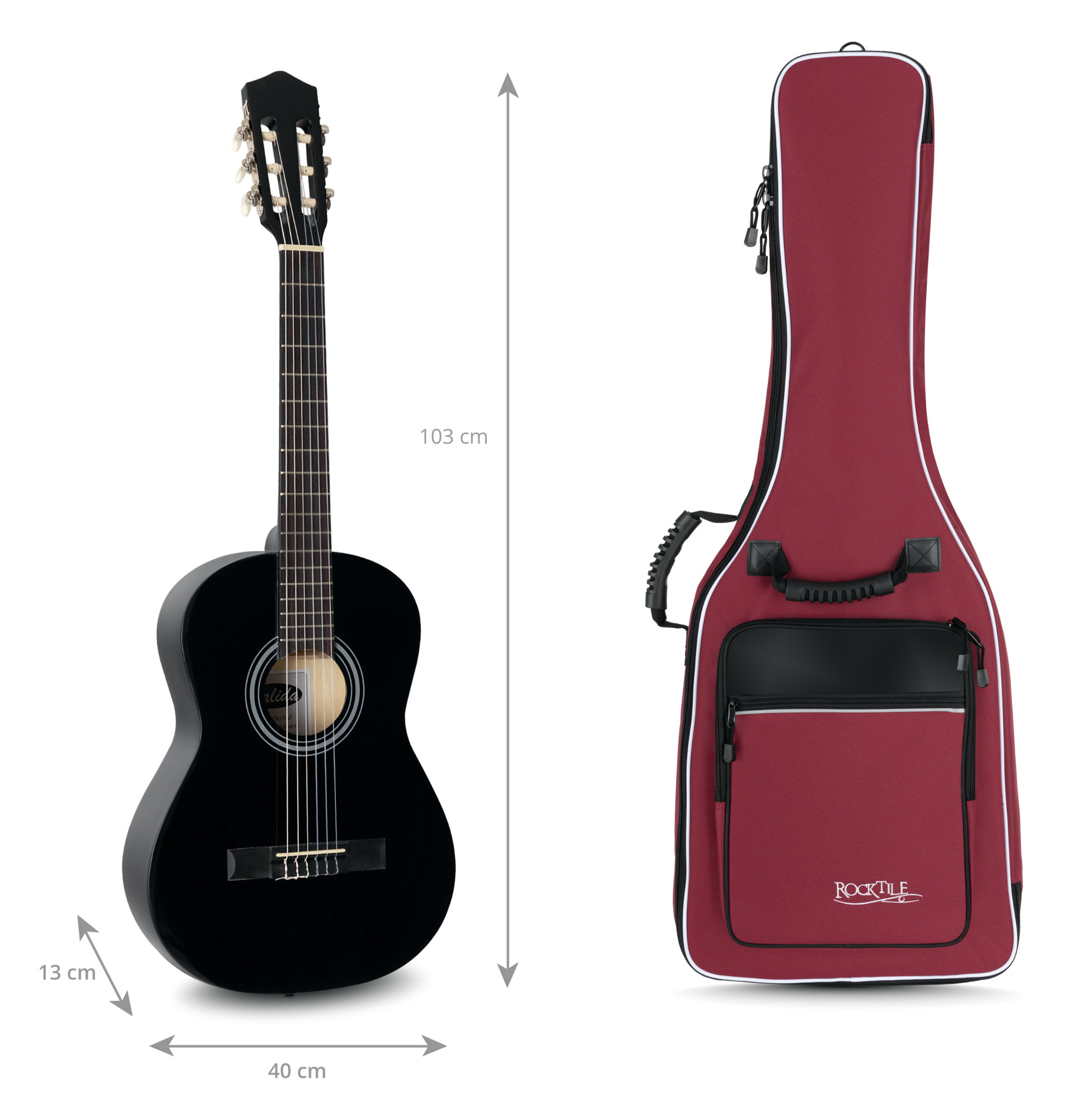 Rocktile custodia semirigida per chitarra con tracolle a zaino