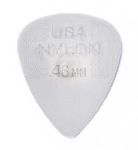 Super Nylon Gitarre Plektren 0,60 mm in Standard Form im 12er Pack light Grey