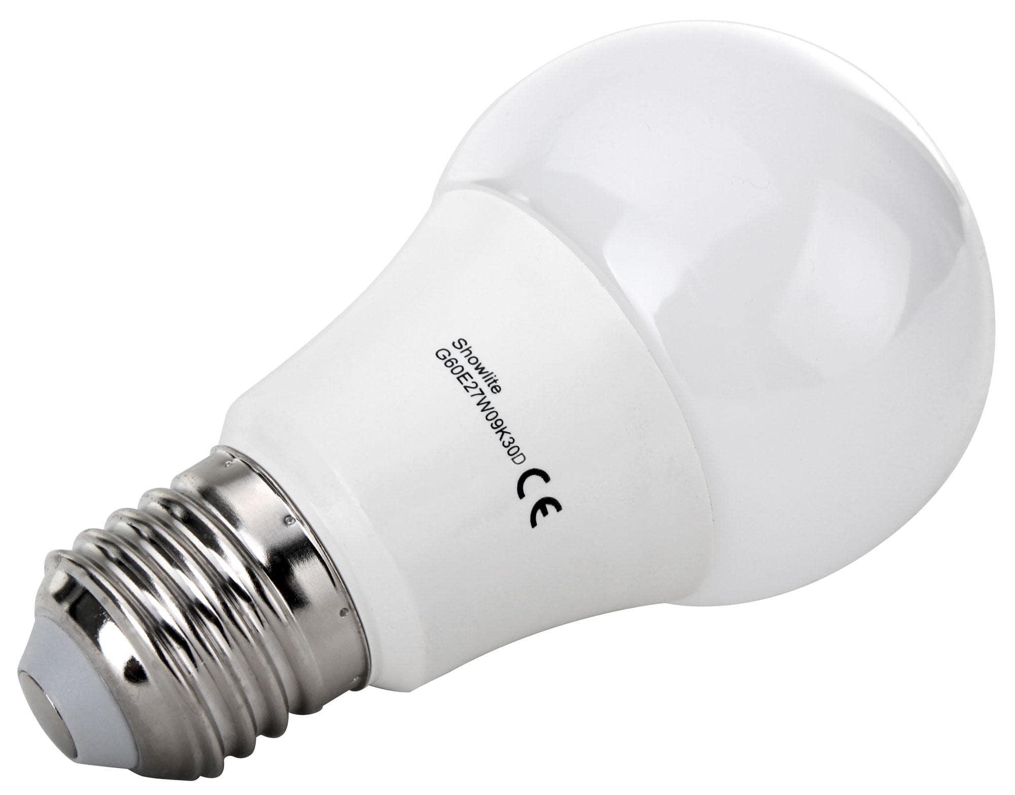 Set showlite led lamp g e w k n watt lumen sokkel