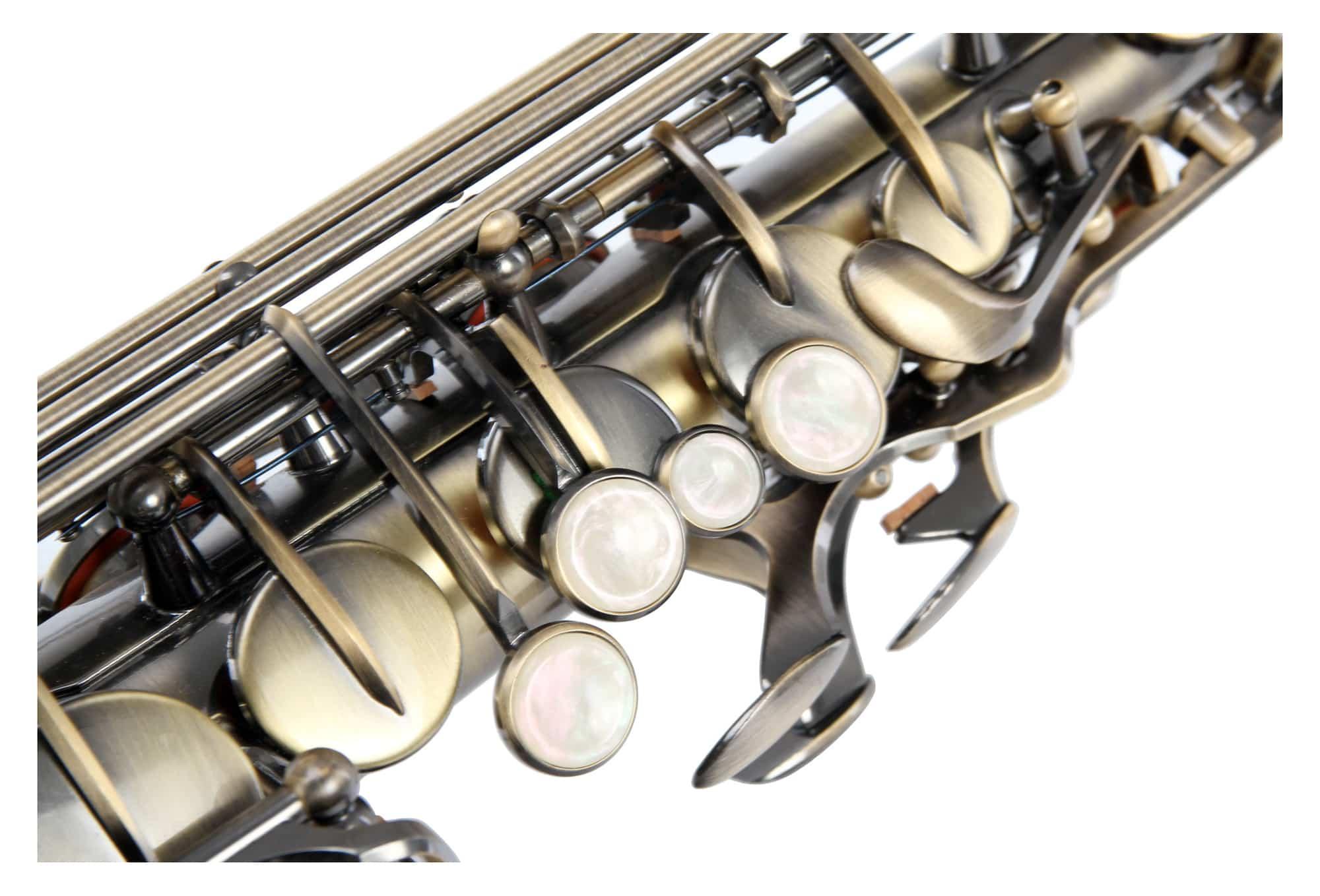 Tenor Saxophon Sax Saxofon Leicht Case Koffer Mundstück Blättchen Antique Yellow