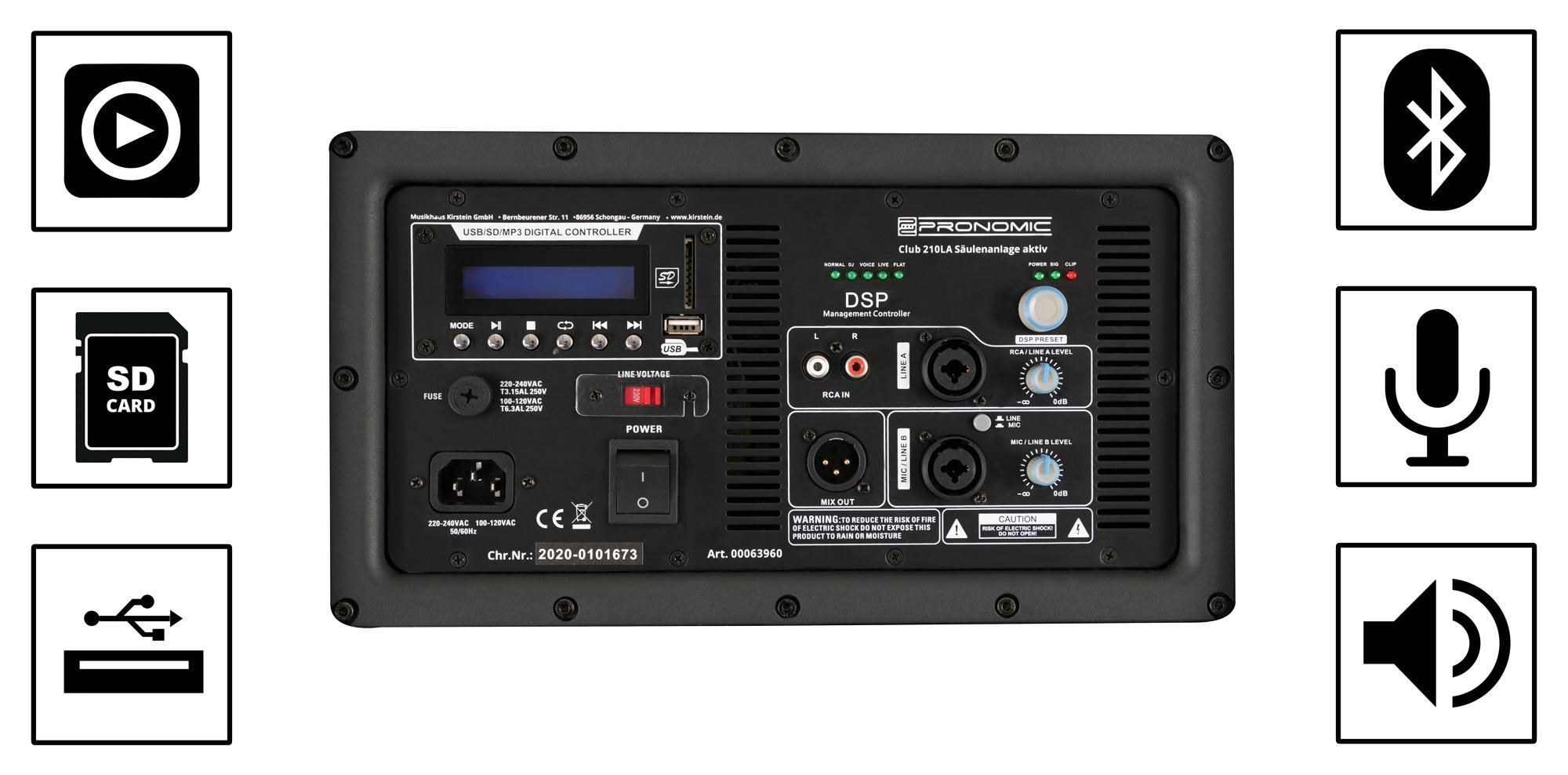10x Pronomic XLR Stecker Set zum Anschluss von Mikrofonen Mics an die PA Anlage