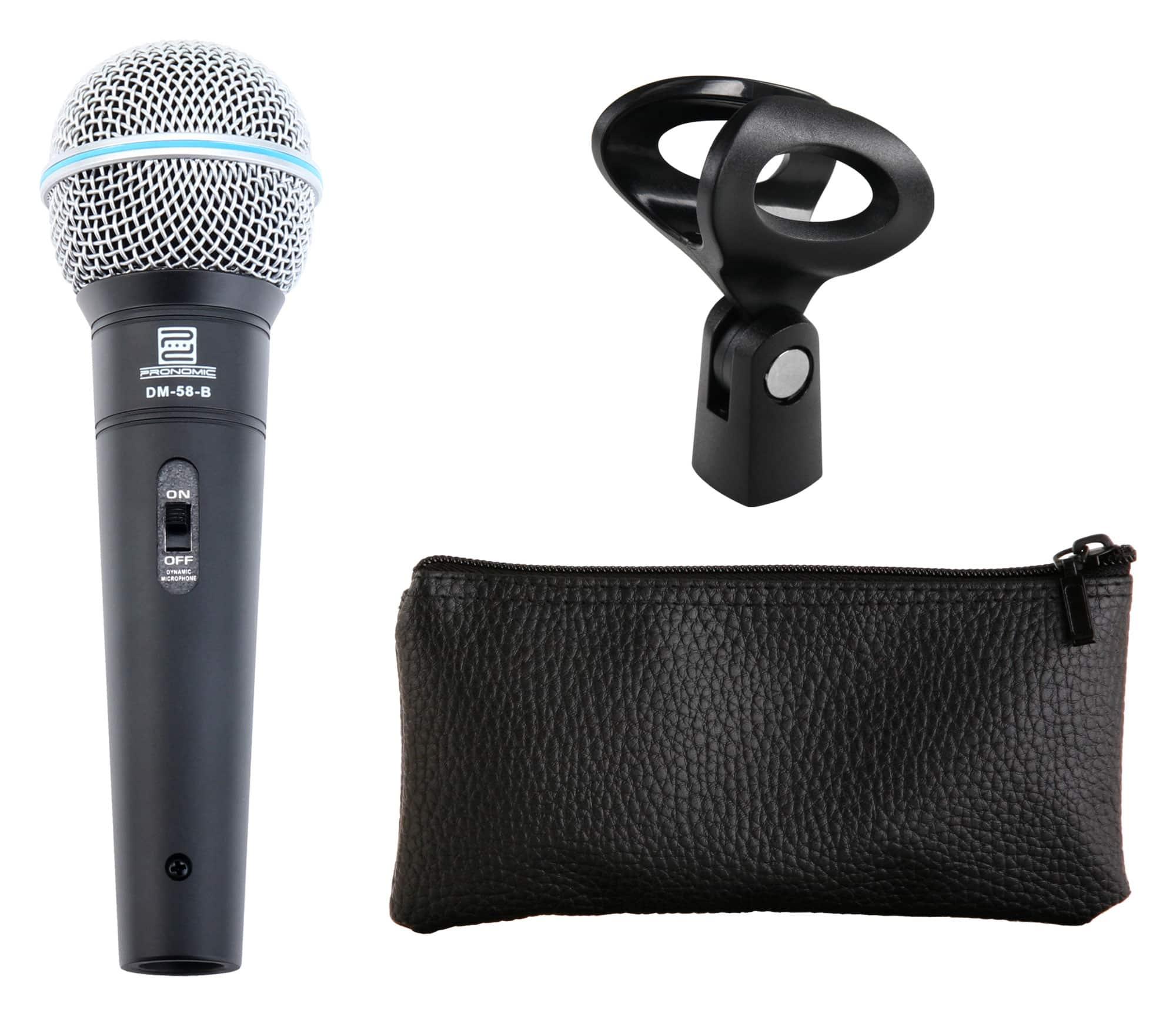 Pronomic DM-58-B Vocal Microphone Starter Set microphone, XLR cable ...