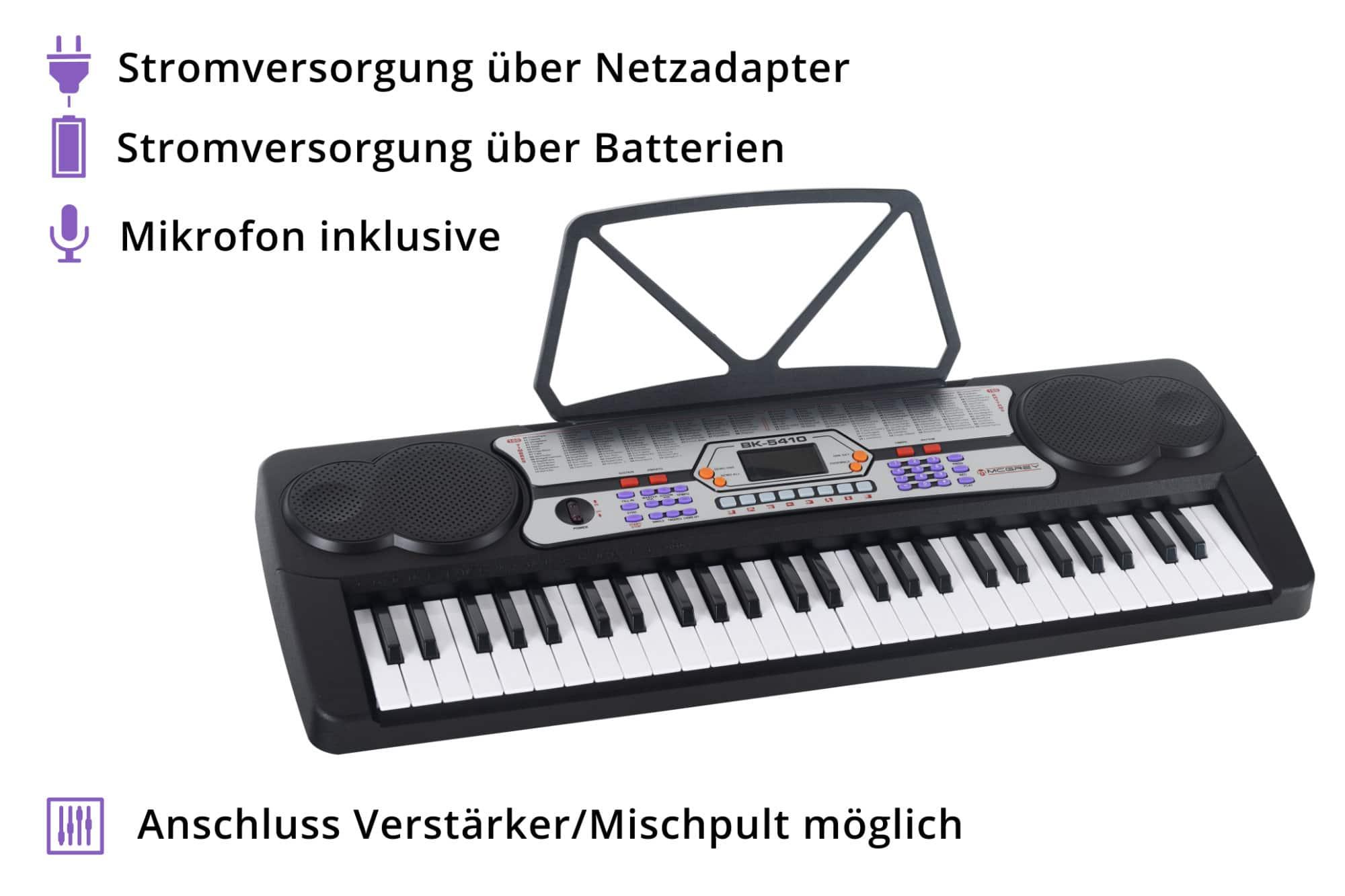 Mcgrey bk 5410 set tastiera per principianti supporto per tastiera