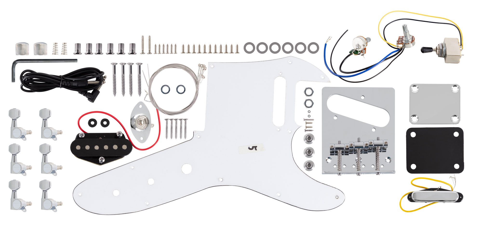 Rocktile E-Gitarren Bausatz Hollowbody TL-Style