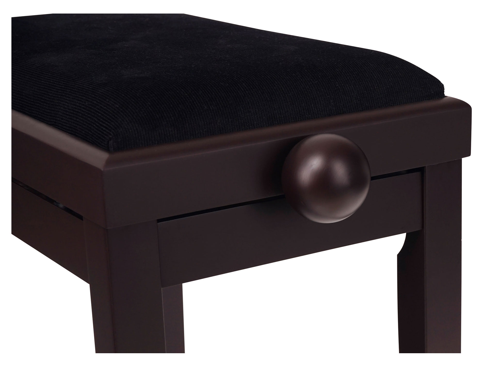 Classic Cantabile Piano Bench Rosewood Matte Solid Wood