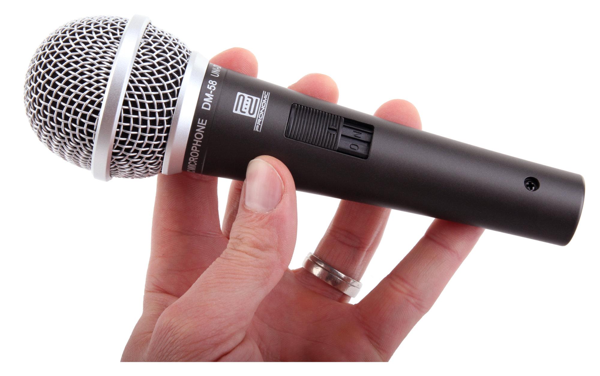 Pronomic DM-58 Vocal Mikrofon mit Schalter Starter SET inkl ...