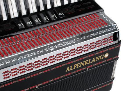 negro Alpenklang Pro acorde/ón III//72 MH