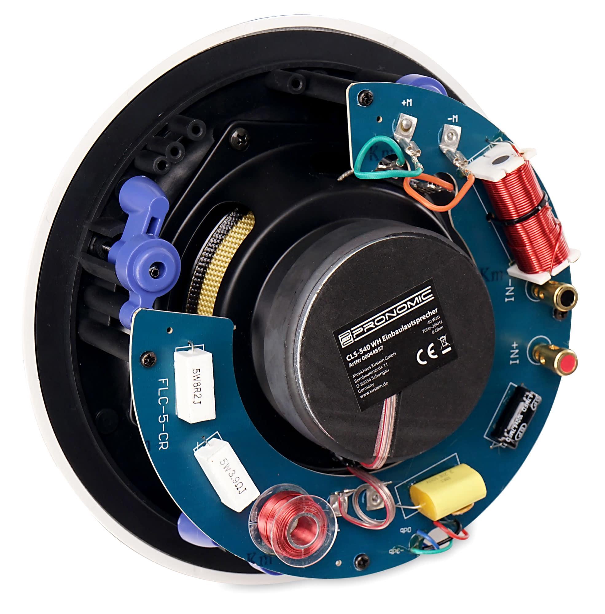 Pronomic CLS-540 WH 2-Wege High-End Gewebe Einbaulautsprecher 160 Watt